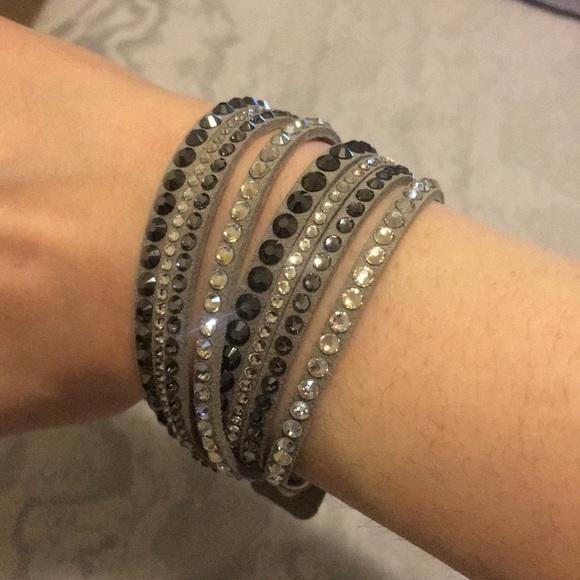 ab4884560 Swarovski Crystal Wrap Around Suede Bracelet. M_5c2ace75d6dc522c152eb6fd